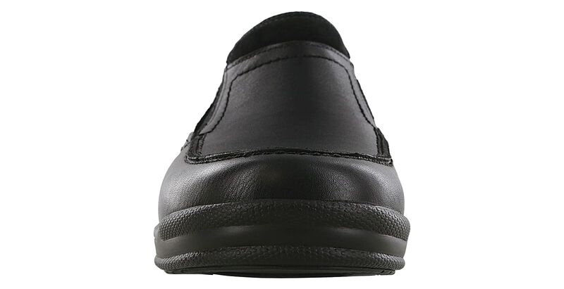 Slip On Black Loafer Front View
