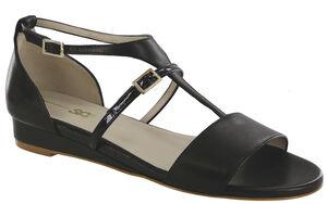 Sandra T-Strap Wedge Sandal