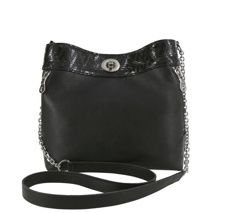Heidi Black-Chevron Bag View