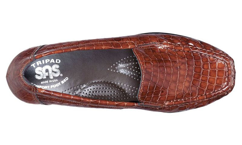 Joy Cognac Croc Left Top View