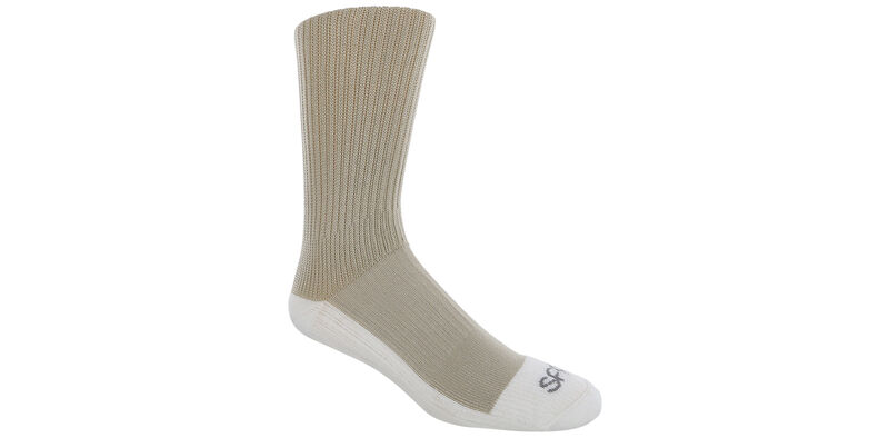 Diabetic Crew X-Large Khaki Socks Model View
