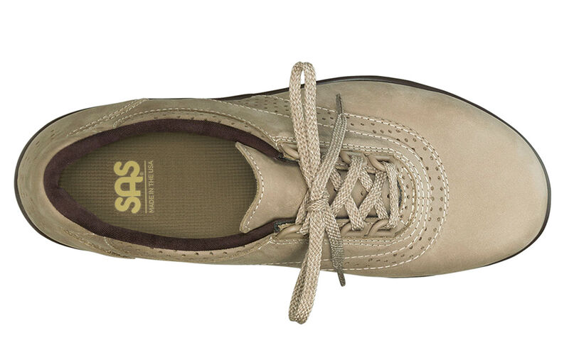 Walk Easy Sage Nubuck Left Top View