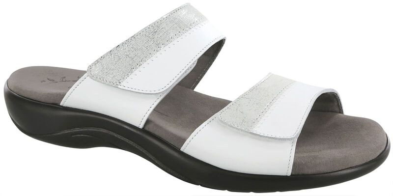 Nudu Slide, White / Silver, large