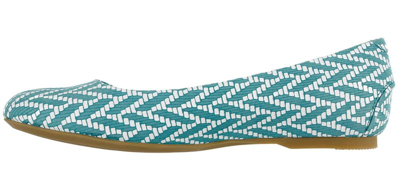 Lacey Slip On Loafer, Chevron Turquoise, large