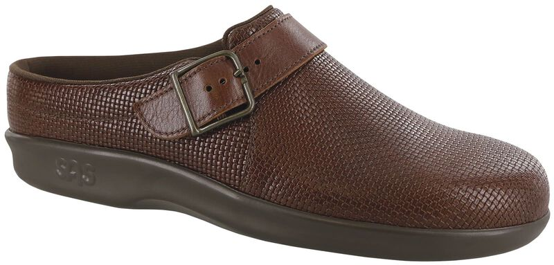 Clog Woven Brown Right .75 View