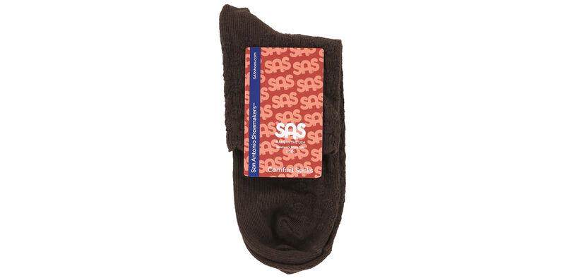 Mayo Crotchet Net Medium Brown Socks Front View