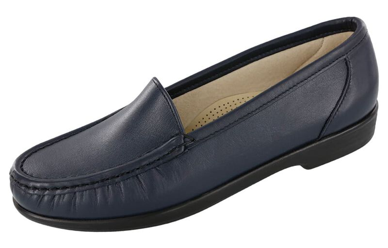 SAS Shoes Simplify Navy Women/'s 7.5 WW Double Wide FREE SHIPPING New In Box Save