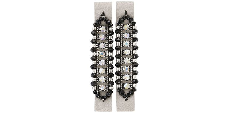 Bling Glam Web Linen-Silver Front View