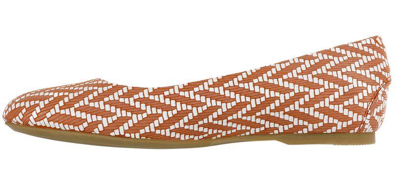 Lacey Slip On Loafer, Chevron Orange, large