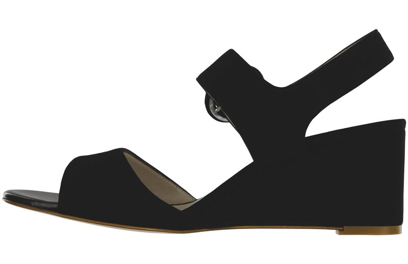 Carine Black Suede Right Side View