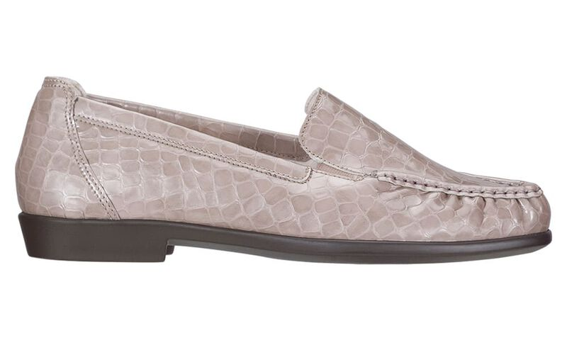 Joy Taupe Croc Right Side View
