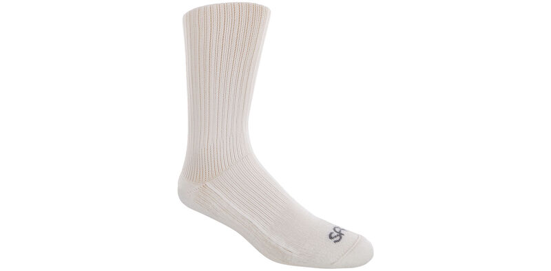 Diabetic Crew Large White Socks Model View