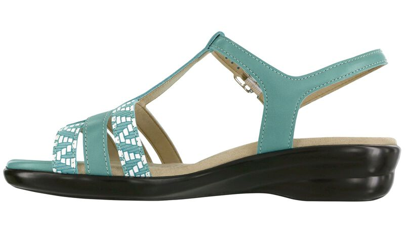 Capri Turquoise Chevron Left Side View