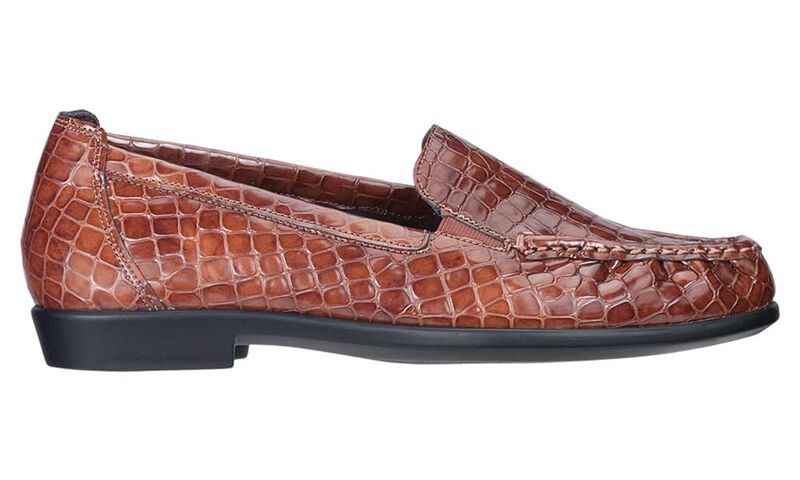 Joy Cognac Croc Left Side View