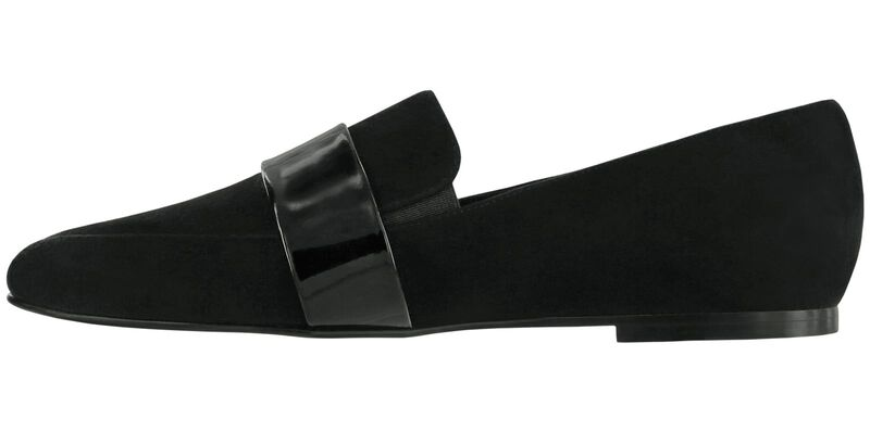 Luxe Black Suede Patent Right Side View