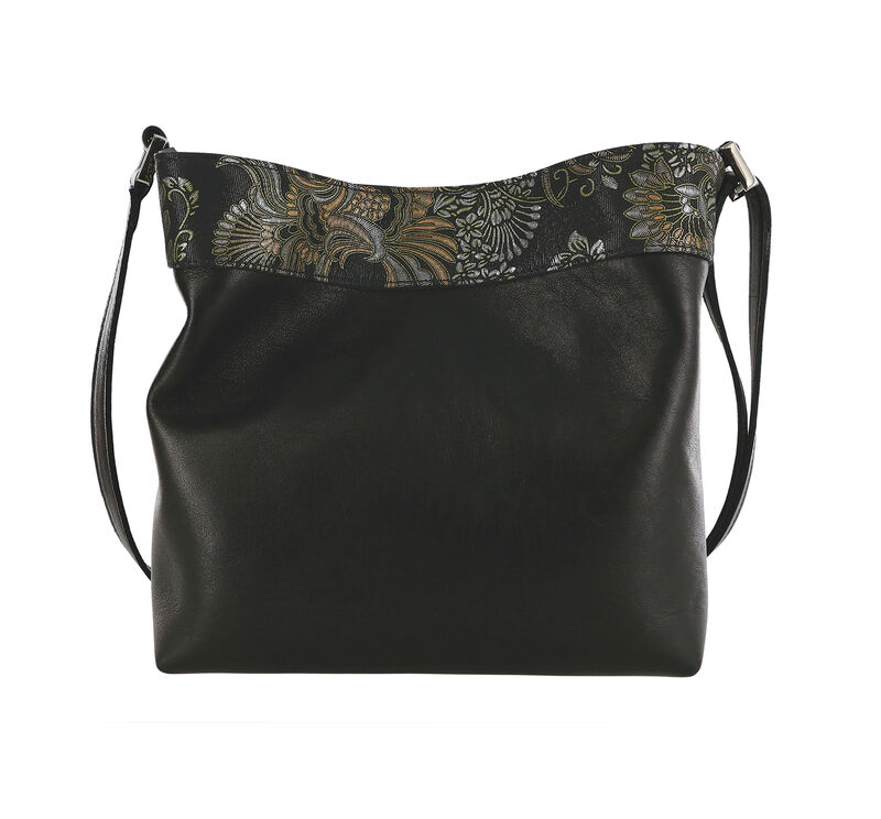 Heidi II Black Brocade Bag View 2
