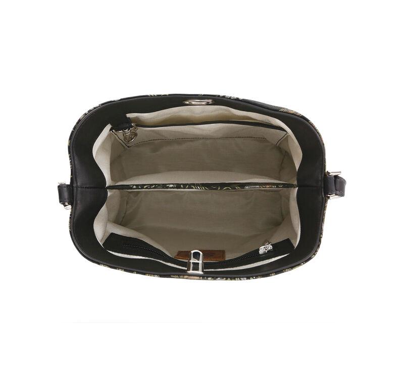 Heidi II Black Brocade Bag Open View 1