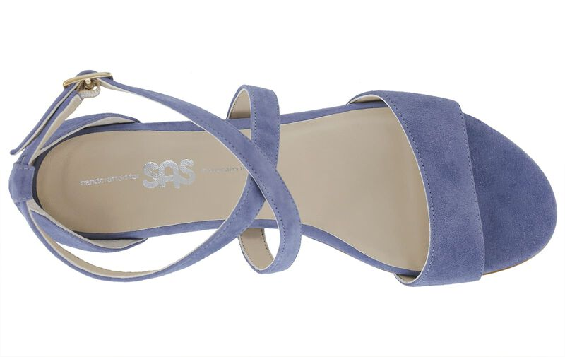Simone Sky Blue Suede Left Top View