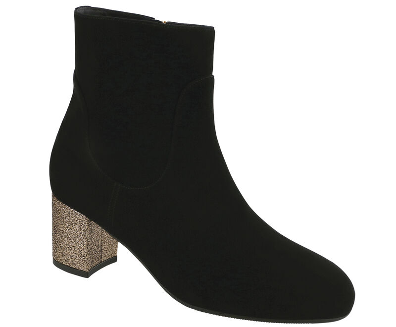 Simi, Black Suede / R Gold, large