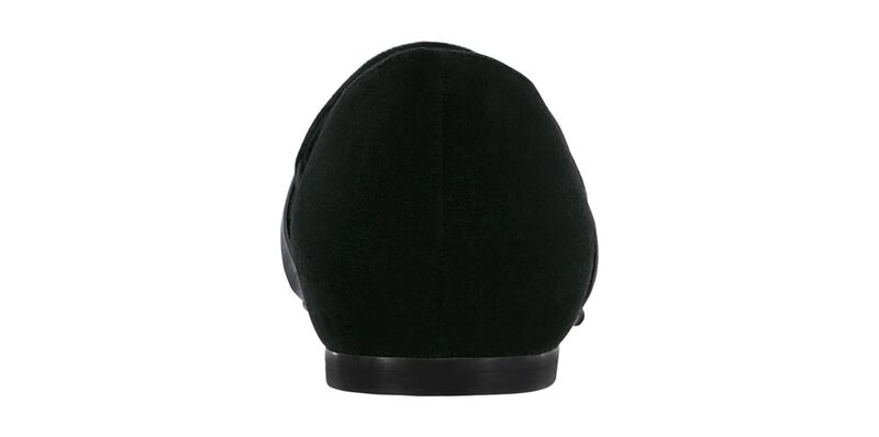 Luxe Black Suede Patent Right Rear View