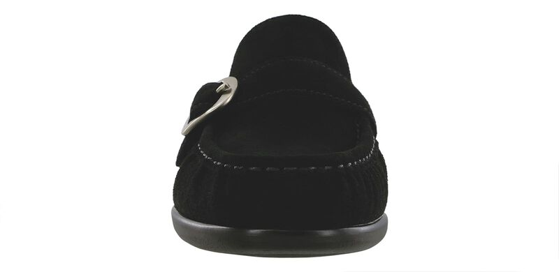 Lara Black Suede Right Front View