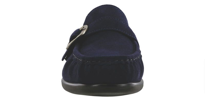 Lara Navy Suede Right Front View