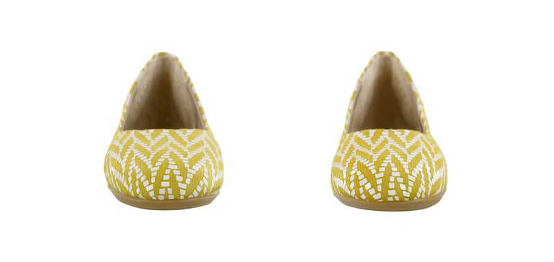 Lacey Slip On Loafer, Chevron Yellow, large