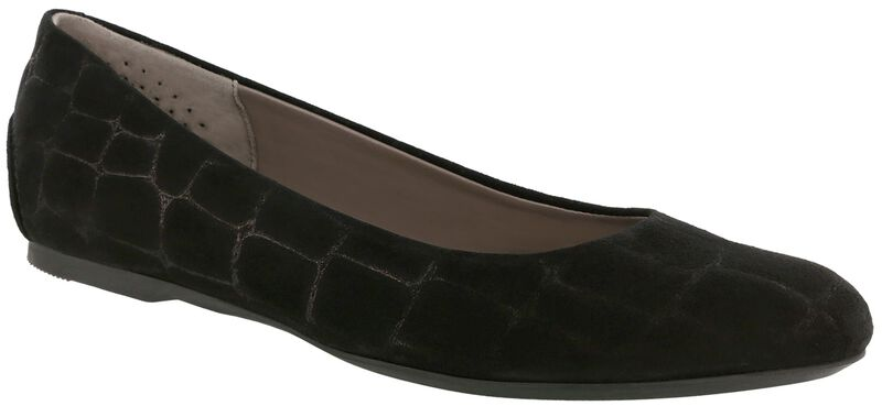 Lacey Slip On Loafer, Black Croc Suede, large