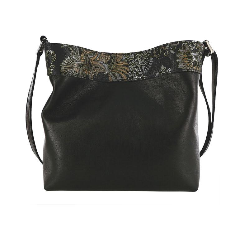 Heidi II Black Brocade Bag View 2