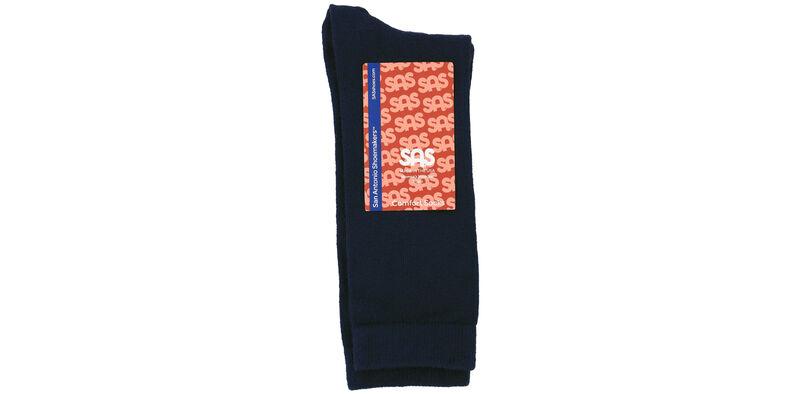 Mayo Viscose Women's Medium Navy Socks Front View