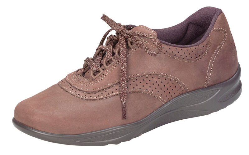 Walk Easy Chocolate Nubuck Left .75 View