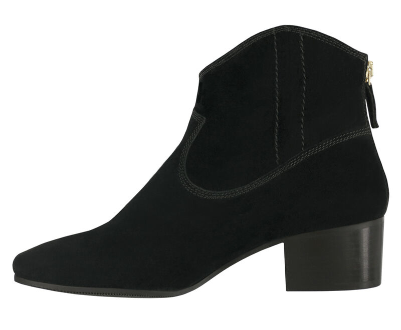 Dylan Black Suede Left Side View