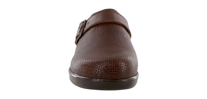 Clog Woven Brown Right Front View