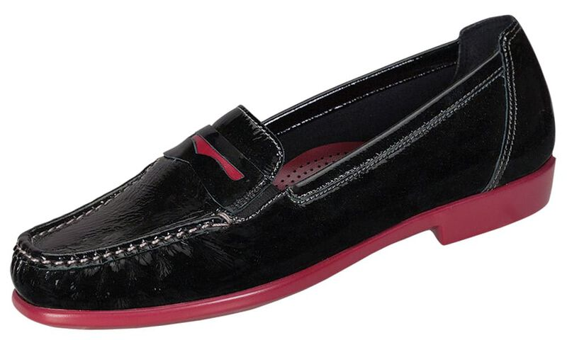 Penny J, Black Patent / Rouge, large
