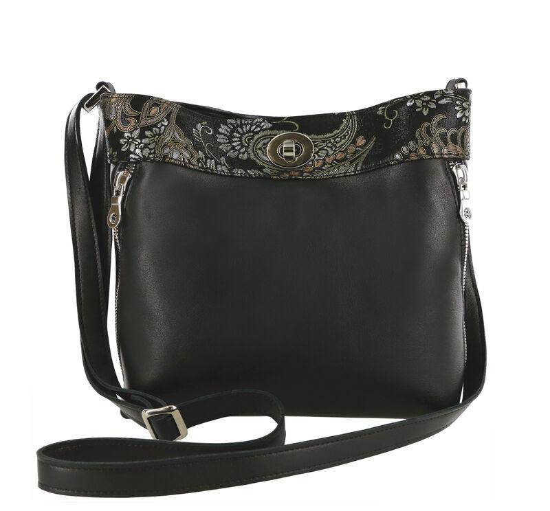 Heidi II Black Brocade Bag View 1