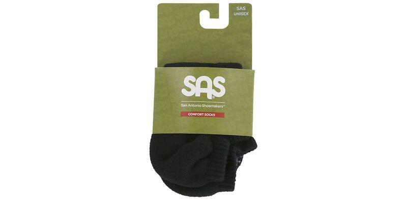 SAS Unisex Micro Socks Medium Black Package View