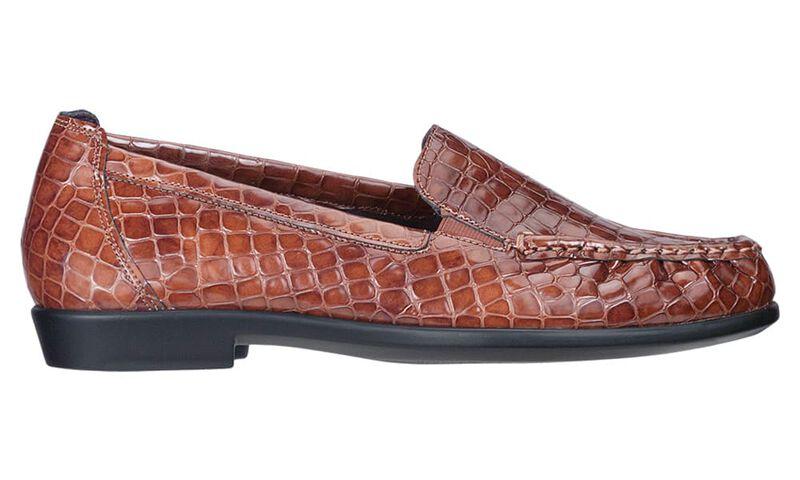 Joy Cognac Croc Left Side View