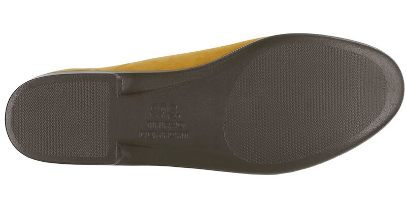 Simplify Mustard Nubuck Left Sole View