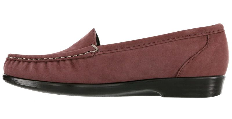Simplify Wine Nubuck Right Side View
