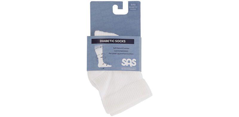 SAS Diabetic QTR Crew Socks - Medium, , large