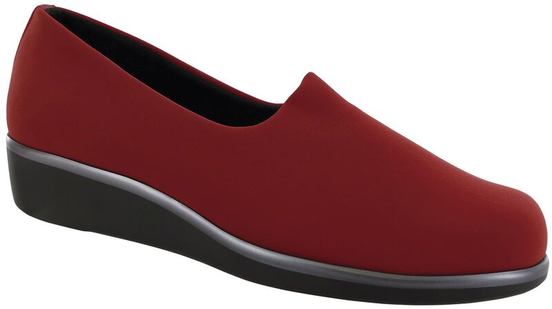Bliss Slip On Wedge, Red, large