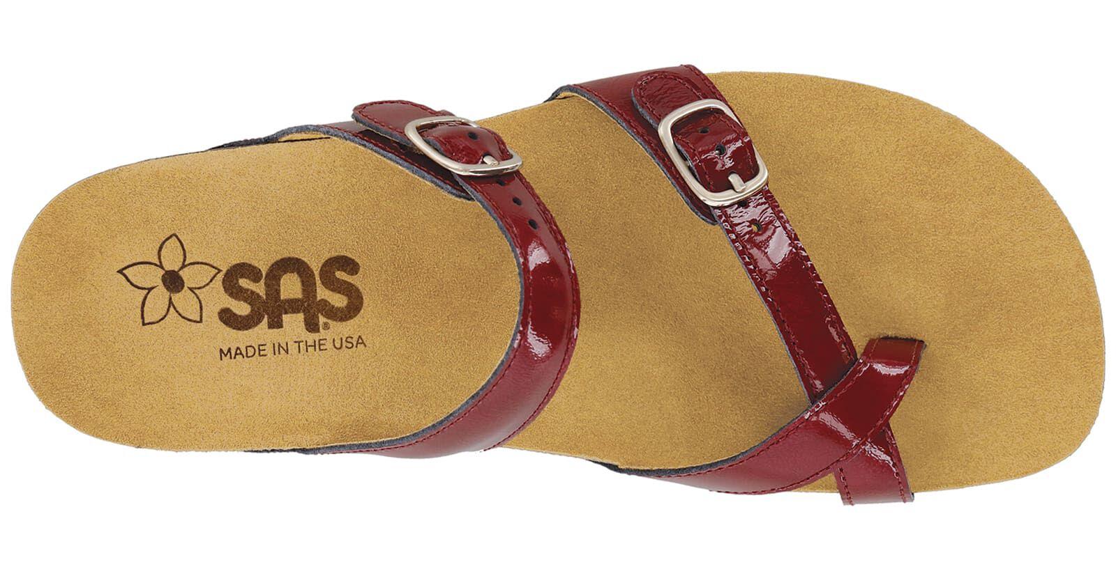 Shelly Toe Loop Slide Sandal   SAS Shoes