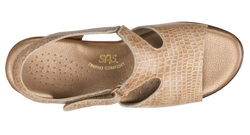Suntimer Beige Croc Right Top View