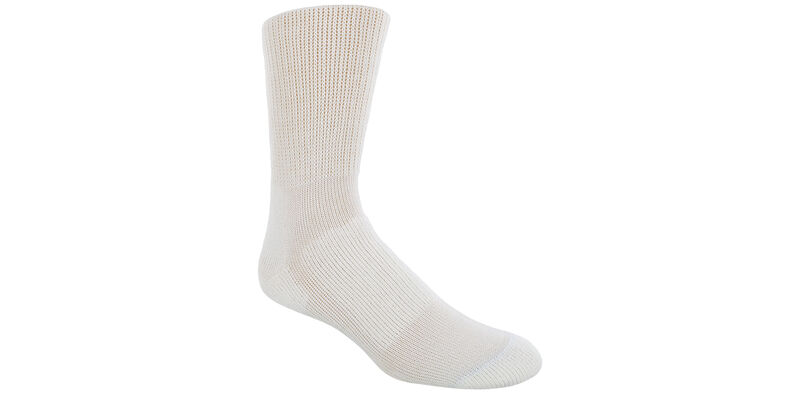 Thorlo Crew Large White Socks Model View