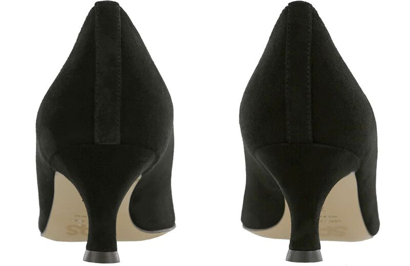 Moxie Black Suede Pair Rear View