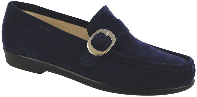 Lara Navy Suede Right .75 View