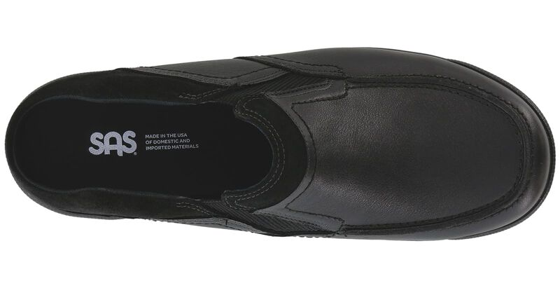 Slip On Black Loafer Top View