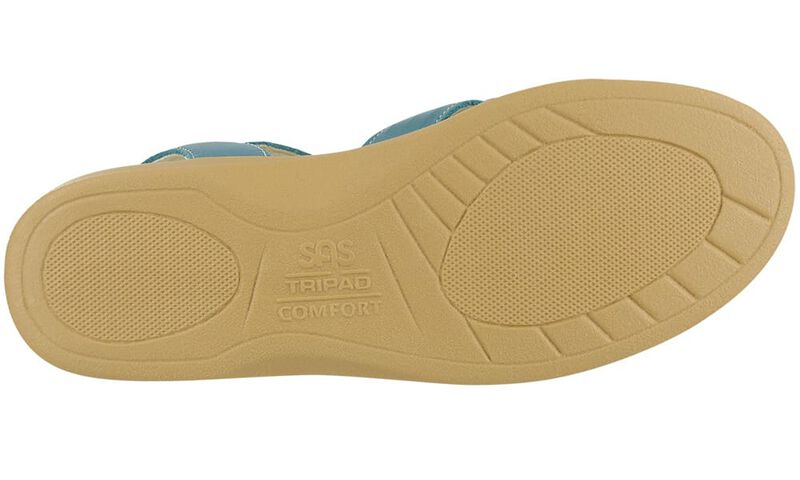 Huarache 40 Teal Left Sole View