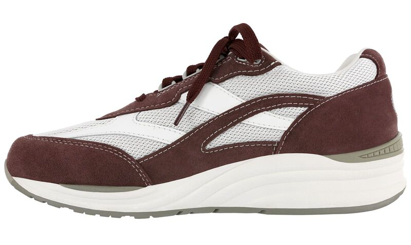 Journey Mesh Maroon-White Left Side View
