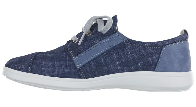Marnie Blue Jay-Nubuck Right Side View
